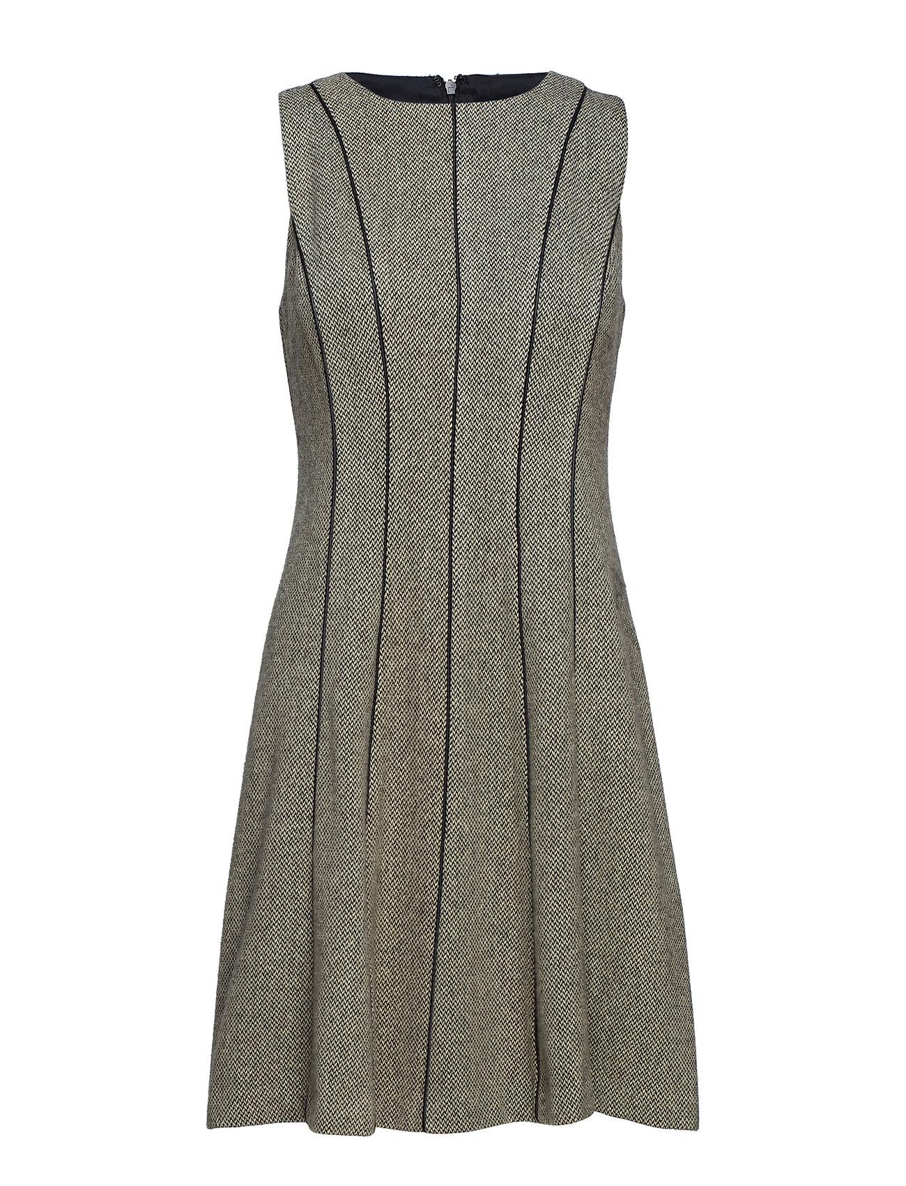 Lauren Ralph Lauren DUGGNAN - S/L DRESS - BLACK/CREAM
