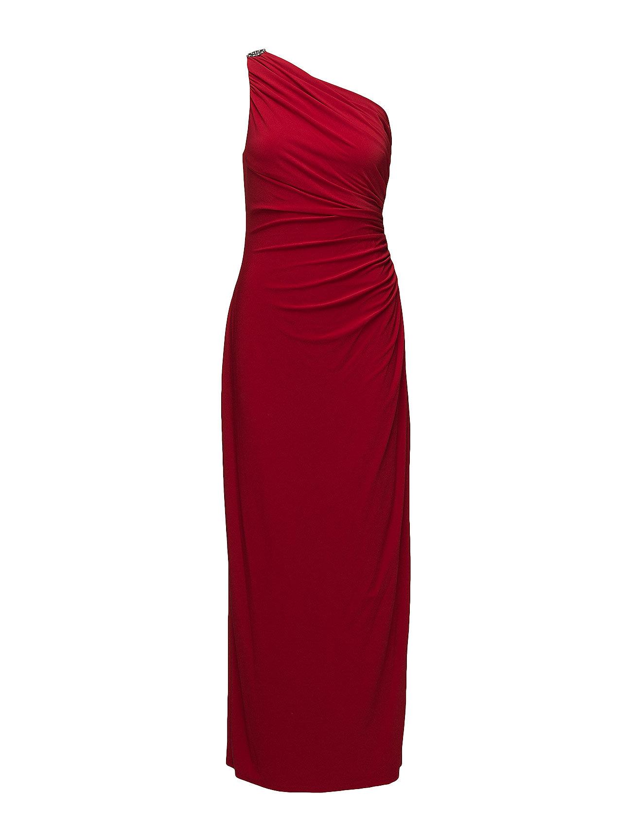 Jersey One-shoulder Gown (Studio Red) (£90) - Lauren Ralph Lauren ...