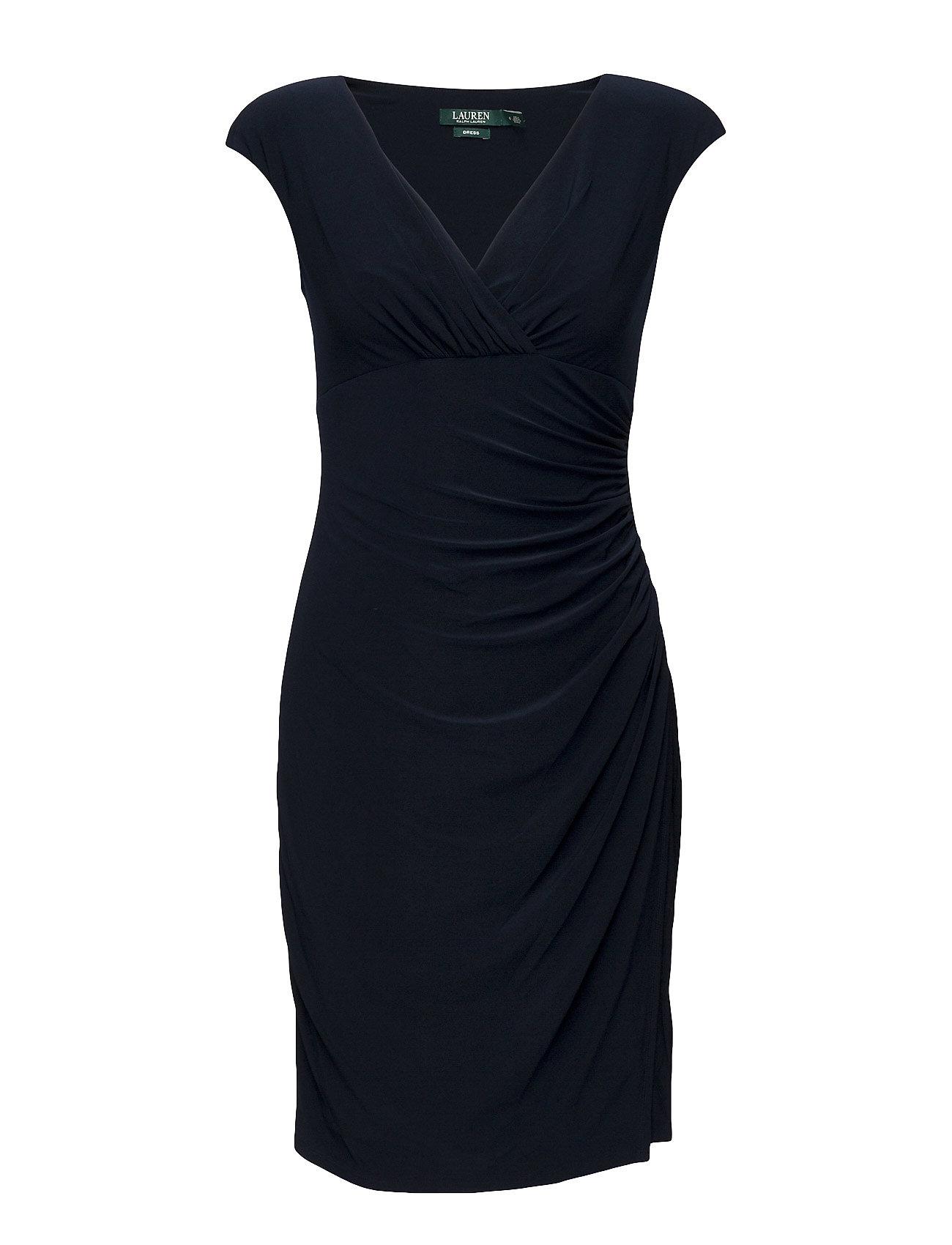 Lauren Ralph Lauren Jersey Cap-Sleeve Dress - LIGHTHOUSE NAVY