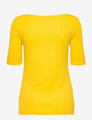 Lauren Ralph Lauren - Cotton-Blend Boatneck Top - t-shirts - athletic gold - 2