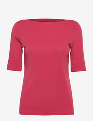 Cotton-Blend Boatneck Top - BRIGHT CLAY