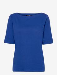 Lauren Ralph Lauren - Cotton Boatneck T-Shirt - t-shirts - royal cobalt - 0