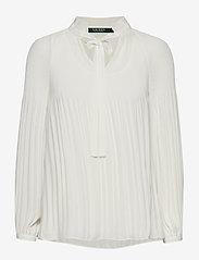 Lauren Ralph Lauren - Georgette Tie-Neck Top - blouses à manches longues - mascarpone cream - 0