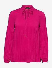 Lauren Ralph Lauren - Georgette Tie-Neck Top - blouses à manches longues - nouveau bright pi - 1