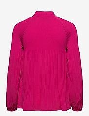 Lauren Ralph Lauren - Georgette Tie-Neck Top - blouses à manches longues - nouveau bright pi - 2