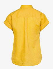Lauren Ralph Lauren - Linen Short-Sleeve Shirt - kortærmede skjorter - beach yellow - 1