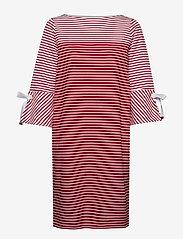 Lauren Ralph Lauren - Striped Cotton Dress - midimekot - lipstick red mult - 0