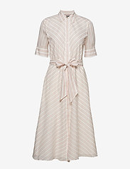 Lauren Ralph Lauren - Striped Belted Shirtdress - paitamekot - dry berry multi - 0