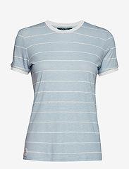 Lauren Ralph Lauren - Striped Linen-Blend Tee - raidalliset t-paidat - english blue/masc - 0