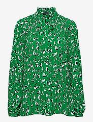 Lauren Ralph Lauren - Georgette Tie-Neck Top - pitkähihaiset puserot - cambridge green m - 0