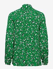 Lauren Ralph Lauren - Georgette Tie-Neck Top - pitkähihaiset puserot - cambridge green m - 1