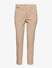Lauren Ralph Lauren - Cotton Twill Skinny Pant - suorat housut - birch tan - 0