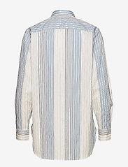 Lauren Ralph Lauren - Cotton Band-Collar Shirt - pitkähihaiset paidat - cream multi - 1