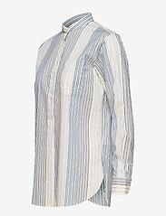 Lauren Ralph Lauren - Cotton Band-Collar Shirt - pitkähihaiset paidat - cream multi - 2