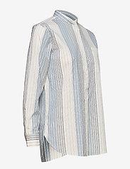 Lauren Ralph Lauren - Cotton Band-Collar Shirt - pitkähihaiset paidat - cream multi - 3