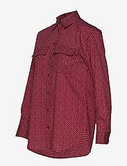 Lauren Ralph Lauren - POLY CDC-LSL-SHT - blouses à manches longues - dark raspberry mu - 2