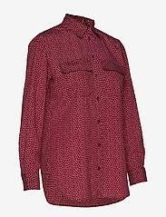 Lauren Ralph Lauren - POLY CDC-LSL-SHT - blouses à manches longues - dark raspberry mu - 3