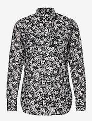 Lauren Ralph Lauren - Floral Cotton Voile Shirt - langærmede bluser - lauren navy/cream - 0