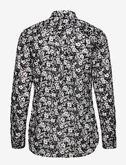 Lauren Ralph Lauren - Floral Cotton Voile Shirt - langærmede bluser - lauren navy/cream - 1