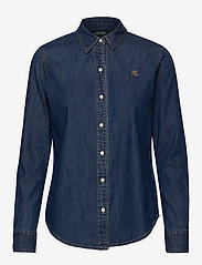 Lauren Ralph Lauren - Collared Denim Shirt - jeansblouses - bright medium was - 0