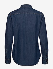Lauren Ralph Lauren - Collared Denim Shirt - jeansblouses - bright medium was - 1