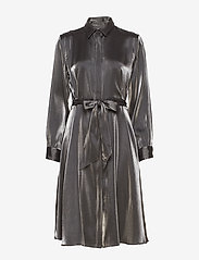 Lauren Ralph Lauren - SHIMMER SATIN-DRESS - paitamekot - black/gunmetal - 0