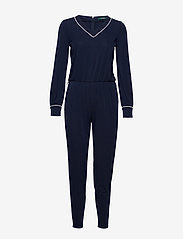 Lauren Ralph Lauren - Belted Long-Sleeve Jumpsuit - haalarit - lauren navy - 4