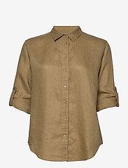 Lauren Ralph Lauren - Linen Shirt - langærmede skjorter - spring khaki - 3