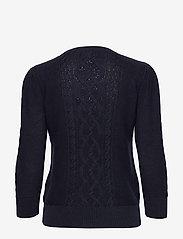 Lauren Ralph Lauren - Puff-Sleeve Cable Sweater - swetry - lauren navy - 1