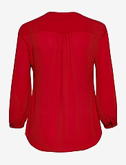 Lauren Ralph Lauren - Pleated Georgette Top - blouses à manches longues - lipstick red - 2