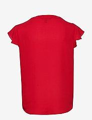 Lauren Ralph Lauren - Georgette Flutter-Sleeve Top - blouses à manches courtes - orient red - 2
