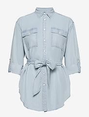 Lauren Ralph Lauren - Belted Shirt - denimskjorter - pale blue wash - 2