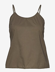Lauren Ralph Lauren - Embroidered Bell-Sleeve Top - langærmede bluser - dry olive - 3