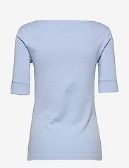 Lauren Ralph Lauren - Cotton-Blend Boatneck Top - t-shirts - estate blue - 1