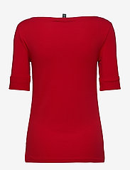 Lauren Ralph Lauren - Cotton-Blend Boatneck Top - t-shirts - orient red - 2