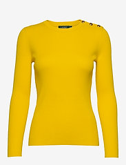 Lauren Ralph Lauren - Ribbed Cotton-Blend Sweater - gensere - dandelion fields - 0