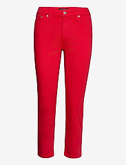 Lauren Ralph Lauren - Premier Straight Crop Jean - slim jeans - bold red wash - 1