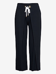 Lauren Ralph Lauren - Stretch Wide-Leg Pant - casual bukser - lauren navy - 1