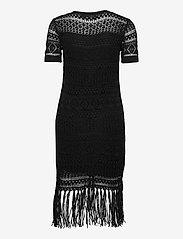 Lauren Ralph Lauren - Pointelle Short-Sleeve Dress - midi kjoler - polo black - 2