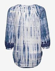 Lauren Ralph Lauren - Tie-Dye Cotton Top - langermede bluser - blue multi - 1