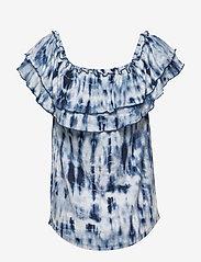 Lauren Ralph Lauren - Tie-Dye Off-the-Shoulder Top - blouses à manches courtes - blue multi - 2