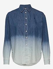 Lauren Ralph Lauren - Ombré Denim Shirt - jeansblouses - dipped indigo was - 1