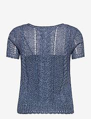 Lauren Ralph Lauren - Cable-Knit Linen-Blend Sweater - strikkede toppe - indigo marl - 2