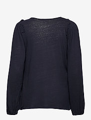 Lauren Ralph Lauren - Linen-Blend Blouson Top - blouses à manches longues - lauren navy - 2