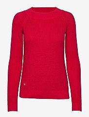 Lauren Ralph Lauren - Ribbed Cotton Sweater - gensere - orient red - 0