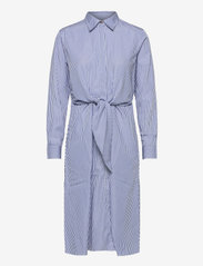 Lauren Ralph Lauren - 70'S CTN BROADCLOTH-DRESS - hverdagskjoler - blue/white - 1