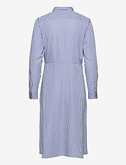 Lauren Ralph Lauren - 70'S CTN BROADCLOTH-DRESS - hverdagskjoler - blue/white - 2
