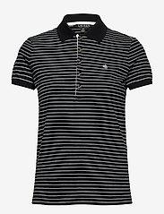 Lauren Ralph Lauren - Striped Piqué Polo Shirt - poloskjorter - polo black/white - 1