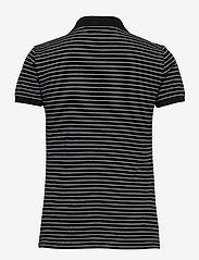 Lauren Ralph Lauren - Striped Piqué Polo Shirt - poloskjorter - polo black/white - 2