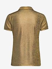 Lauren Ralph Lauren - Metallic Jersey Polo Shirt - polohemden - gold metal - 1